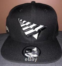 444 Roc Nation Snapback Hat New Era 9fifty Green Brim Jay-z Hat Paper Plane eb328a83bc68