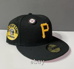 7 5/8 Exclusive Hat Club New Era Fitted Pittsburgh Pirates 1974 Pink All Star