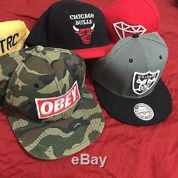 $800 EPIC DEAL LOT 24 SNAPBACKS STRAPBACKS AND FITTED CAPS NEW ERA OBEY + MORE