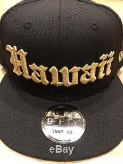 808 AllDay OE Black/Gold Hawaii New Era SnapBack Hat Fitted DS