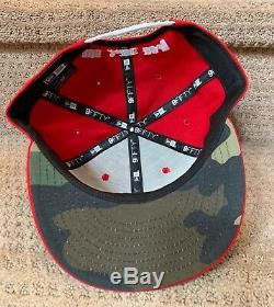 808 AllDay OE Red/White Mahalo Hat New Era SnapBack Fitted Hawaii Farmers