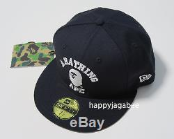 A BATHING APE Men's COLLEGE 59 FIFTY NEW ERA CAP Black / Navy From Japan New