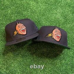 Atlanta Braves Chief Nocahoma New Era Fitted Banned Hat Screaming Indian MLB NWT