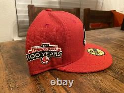 Boston Red Sox Fenway Park Anniversary Scarlet Gray UV New Era Fitted Hat 7 3/4
