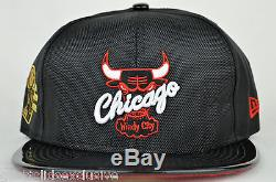 Chicago Bulls Black Ballistic Patent 6 Time NBA Champs New Era Fitted Cap