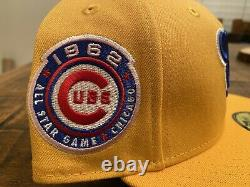 Chicago Cubs 1962 All Star Game Pink UV Lemonade New Era Fitted Hat 7 3/4