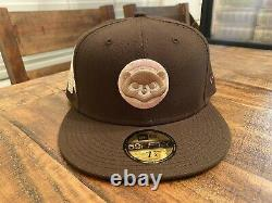 Chicago Cubs 1990 All Star Game Walnut Pink Brim New Era Fitted Hat 7 3/4