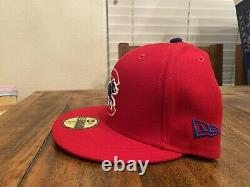 Chicago Cubs 1990 All Star game Red Sky Blue UV New Era Fitted hat 7 3/4
