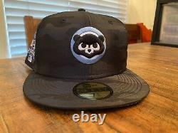 Chicago Cubs Black Camo Icy Blue UV 1990 All Star Game New Era Fitted hat 7 3/4
