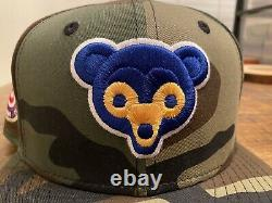 Chicago Cubs Camo Red Under visor 1962 All-Star Game New Era Fitted Hat 7 3/8