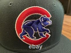 Chicago Cubs Evergreen Icy Blue UV Wrigley Field New Era Fitted Hat 7 1/4