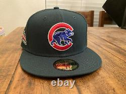 Chicago Cubs Evergreen Icy Blue UV Wrigley Field New Era Fitted Hat 7 1/8