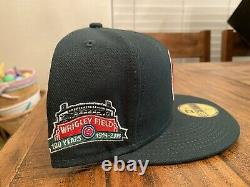 Chicago Cubs Evergreen Icy Blue UV Wrigley Field New Era Fitted Hat 7 5/8