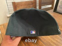Chicago Cubs Evergreen Icy Blue UV Wrigley Field New Era Fitted Hat 7 7/8