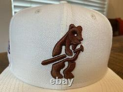 Chicago Cubs World Champions Off White Pink Uv New Era Fitted Hat 7 3/4