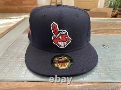 Cleveland Indians 1948 Indians New Era Fitted Hat Green Bottom 7 3/8 Chief Wahoo