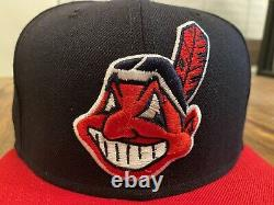 Cleveland Indians 2-tone 1954 All Star Game Grey Bottom New Era Fitted hat 7