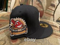 Cleveland Indians Navy 1954 All Star Game New Era Fitted Hat Grey Uv 7 1/8