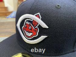 Cleveland Indians Navy 1954 All Star Game New Era Fitted Hat Grey Uv 7 3/4