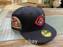 Cleveland Indians Navy Blue 1954 All Star Game New Era Fitted Hat Grey Uv 7 3/4