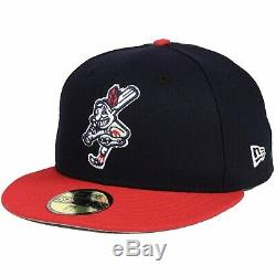 Cleveland Indians New Era 59Fifty Swinging Chief Wahoo 7 1/4 Fitted Cap Hat RARE