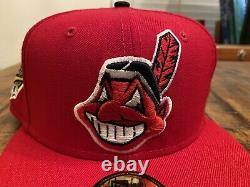 Cleveland Indians Red Grey UV 1995 World Series Patch New Era Fitted Hat 7