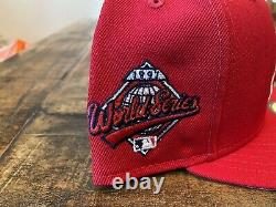 Cleveland Indians Red Grey UV 1997 World Series Patch New Era Fitted Hat 7 3/4