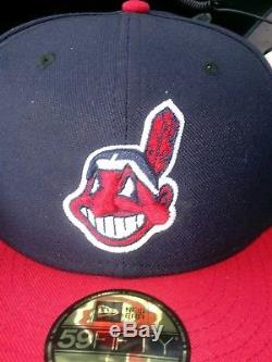 Cleveland Indians hat New Era 59/50 Jackie Robinson Day BANNED HAT Rare as 7 1/4