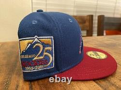 Colorado Rockies 25th Anniversary NHL Avalanche Gold Uv New Era Fitted Hat 7 5/8