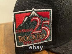 Colorado Rockies 25th Anniversary New Era Fitted Hat Glow in the Dark 7 3/4