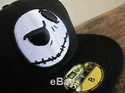 DISNEY x NEW ERA Nightmare Before Christmas Jack 59FIFTY Fitted Cap sz 8 hat