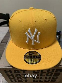 Exclusive New Era 59Fifty Taxi New York Yankees 1998 World Series Patch Gold