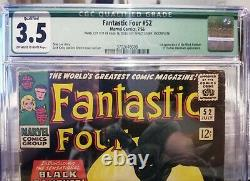 FANTASTIC FOUR #52 CGC 3.5 1st Appearance of Black Panther withBonus New Era Hat