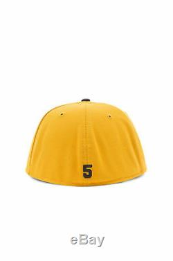 FOG Fear Of God 5th Collection 59FIFTY New Era Fitted Cap Hat Vintage Gold Black