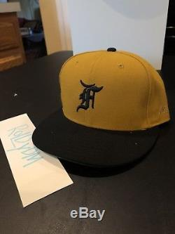 Fear Of God 5th Collection New Era VINTAGE GOLD Fitted Cap 7 1/2 DS FOG Air Navy