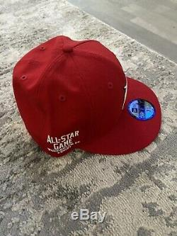 Fear Of God New Era All Star Weekend Washington DC Hat 7 3/4 Fitted Red FOG Rare