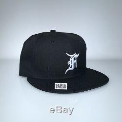 Fear Of God x New Era Essentials Fitted Hat Black and White FOG F. O. G Size 7-8