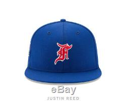 Fear of God New Era Fitted Hat Cap Blue Red