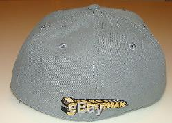 Flock Cut New Era Cap Hat Fitted 7 7/8 Superman 59Fifty Suede Outlined Logo
