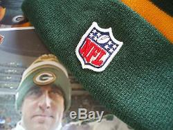 Green Bay Packers New Era knit pom hat beanie 100%Authentic NFL On Field 2013-14