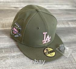 HAT CLUB EXCLUSIVE NEW ERA 59Fifty SZ 7 3/8 Los Angeles Dodgers PINK BOTTOM