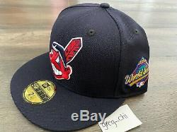 HAT CLUB NEW ERA CLEVELAND INDIANS 1997 World Series Side Patch Hat 7 1/4 Wahoo