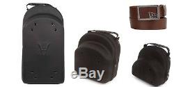 HG Baseball Hat 3 pc Case Protection For Storage Travel BLACK