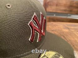 Hat Club Aux New York Yankees 2003 World Series MF DOOM Fitted Hat 7 3/4 Olive