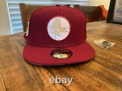 Hat Club Beanpot Boston Red Sox 1961 All Star Game Fitted Hat 7 3/4 Cardinal Tan