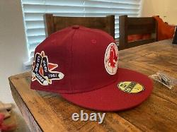 Hat Club Boston Baked Beans Red Sox 1961 All Star Game Patch Yellow UV Hat 7 3/4