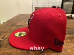 Hat Club Cleveland Indians Red Grey UV 1995 World Series New Era Fitted 7 3/4