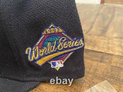 Hat Club Cleveland Indians Wahoo 1997 World Series Grey UV New Era Fitted 7 5/8