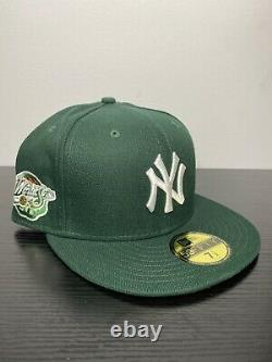 Hat Club Exclusive 7 1/2 Yankees Fitted 98 WS Patch Hurricanes Orange Bottom