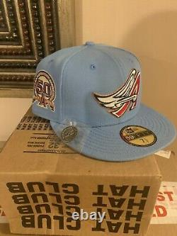 Hat Club Exclusive Anaheim Angels 50th Anniversary New Era Fitted Cap 7 1/2